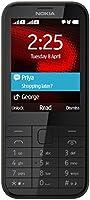 Nokia 225 Téléphone portable débloqué 2G (Ecran : 2,8 pouces 8 Mo Double SIM) Noir