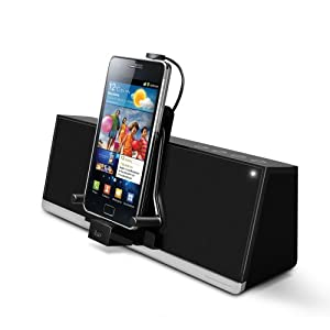 iLuv MobiDock Stereo Speaker Dock for Android Smartphones and Kindle Fire/Kindle Touch - Black