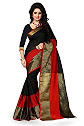 Snapyshopy Ethnic Awesome Black Colord Designer Party Wear Cotton Printed Saree
