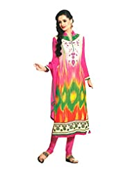 Sabrang Women Georgette Digital Printed Multi-coloured Long Sleeve Salwar Suit - B00OXQY3I2