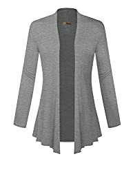 Hybrid & Company - Super Comfy Women's Open Front Drape Cardigan - Made in USA