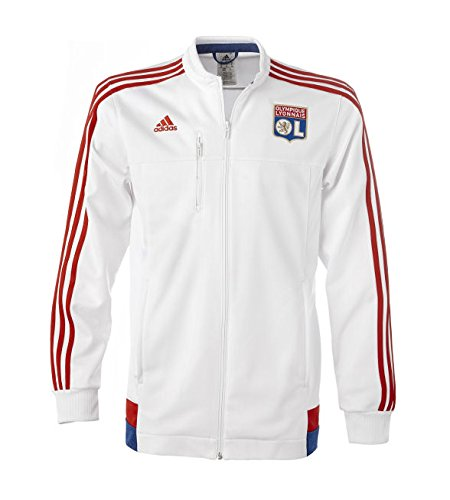 Adidas Herren Jacke FC Schalke 04 Anthem Jacket, white/colred/croyal, L, AA1650