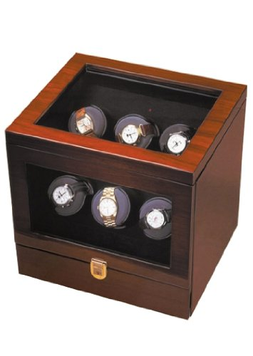 Orbita Watch Winders The Monico 6 Teakwood - Watch Winder For Six Watches By Orbita