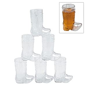 .com: Plastic Mini Cowboy Boot Glasses 1 dz: Health amp; Personal Care