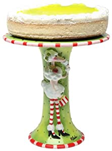 Appletree Design Ruby's Collection Cake Stand, Plate 10-3/4-Inch Long, Vase 10-1/4-Inch Tall