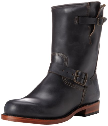 Frye Men's Arkansas Engenier Boots Black Noir (Black) 10 (44 EU)
