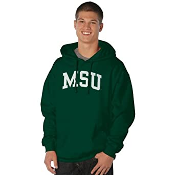NCAA Michigan State Spartans Peerless Nuvola Cotton Sueded Hooded Sweatshirt by Ouray Sportswear