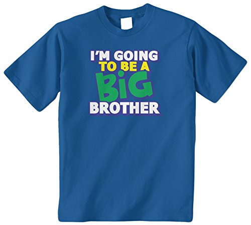 Threadrock Big Boys' I'M Going To Be A Big Brother Youth T-Shirt S Royal Blue front-1058800
