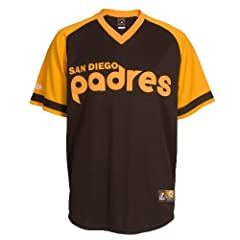 MLB Tony Gwynn San Diego Padres 1978 Cooperstown Short Sleeve Synthetic Replica... by Majestic