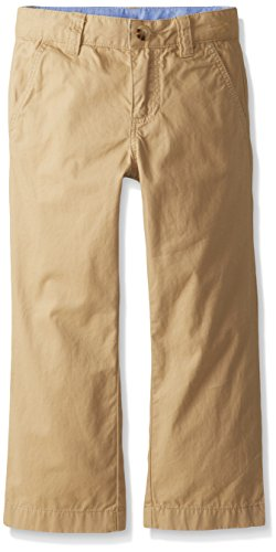 Lacoste Little Boys Flat Front Classic Gabardine Chino Pant, Light Macaroon Brown, 4