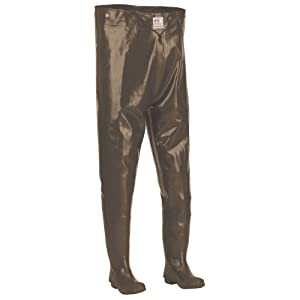 Hodgman CSTRCHTCLTSZ13 Caster Rubber Chest Hip Wader with Cleated Sole, Brown,... by Hodgman