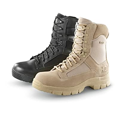 Men's HQ ISSUE Side Zip Tactical Boots Waterproof Black, BLACK, 11M