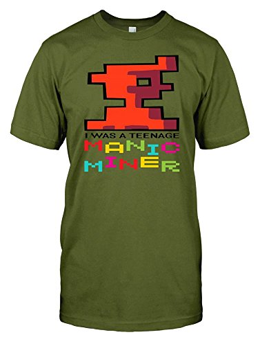 I Was A Teenage Manic Miner - Retro Gamer Mens Tee - 4 Colours