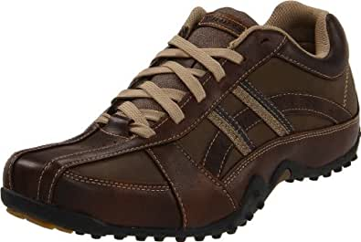 Skechers USA Men's Browser Casual Oxford,Brown,7 M