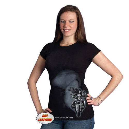 Hot Leathers This Bitch Just Passed You Ladies' Short Sleeve Tee (Black, Large)