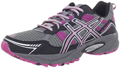 ASICS Women's GEL-Venture 4 Running Shoe,Charcoal/Black/Magenta,5 M US