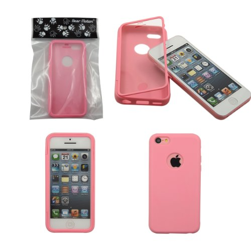 Bear Motion (TM) Premium Full Housing Case for iPhone 5C with Front and Back Protection and Built in Screen Protector for Apple iPhone 5C (Cotton Candy) (Full Housing Iphone 5c Case compare prices)