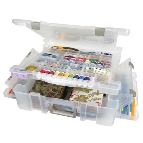 Read About Art Bin Deluxe Super Satchel 17.9″x16.8″x5″ Translucent 6981AB