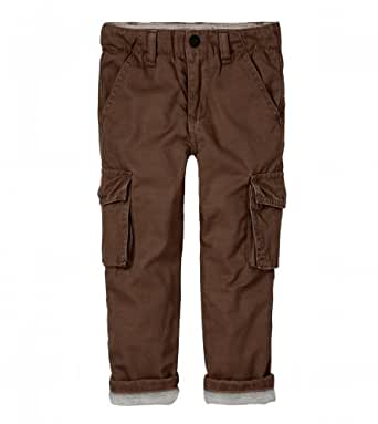 Amazon com ruum baby boys lined cargo pant nut brown 12m infant and