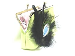 Plumes and Pearls Womens Peacock Meadows Clutch (Green)