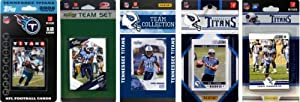 NFL Tennessee Titans 5 Different Licensed Trading Card Team Sets by C&I Collectables