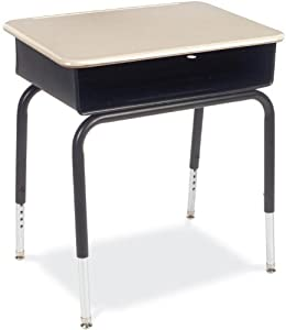 "Virco 785MBBM - Student Desk with Open Front Metal Book Box, 18"" x 24"" Hard Plastic Top (Virco 785MBBM) by Virco"