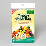 "Reusable Green Fresh Bags 15"" x 9.8"" - Prolong Fruits, Vegetable, Flowers & More! 10 PACK"