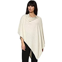 Pluchi Cotton Poncho- Rosette- Natural Marl