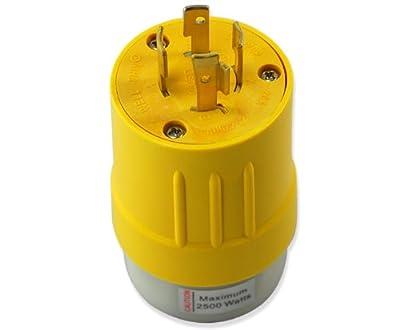 Conntek RV Generator Adapter L14-20P 20-Amp 125/250V Locking Plug to RV 30-Amp Female Connector