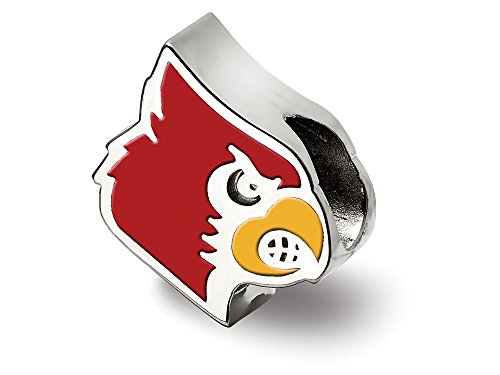LogoArt University Of Louisville Cardinal Enameled Logo Bead Charm