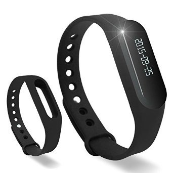 Lincass Touch Screen OLED Smart Healthy Bracelet Watch Wristband Sport Gym Fitness Tracker Stopwatch Passometer WristWatch Phone Mate Supports Android 4.3 or Above Android Smartphones