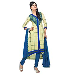 Triveni Pure Georgette Semistitched Salwar Suit (TSHTXMRSK6404b_LightYellow)