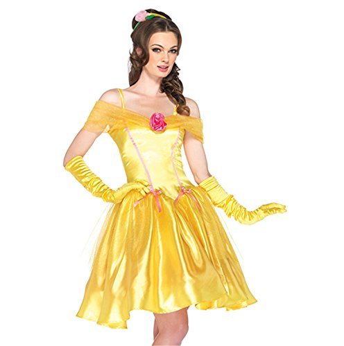 Sexy4Lady Women's Adult Princess Belle Costume