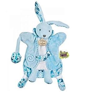 Doudou et Compagnie Doudou Marionnette Tatou Lapin Bleu