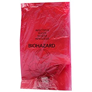 Biohazard Disposal Bags 24'' X 24'' 25/pkg