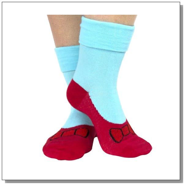 Wizard of Oz Non Skid Ruby Red Slipper Costume Socks