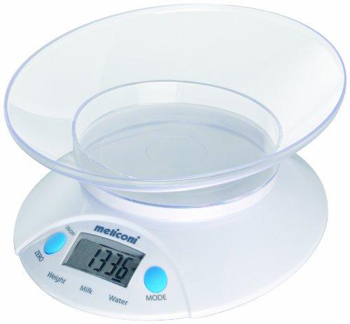 Meliconi 65510153700 Oval Balance Électronique de Cuisine Blanc 22 x 17,5 x 9 cm