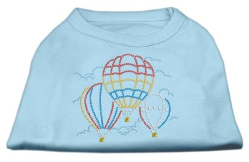 "Brand New Mirage - Hot Air Balloon Rhinestone Shirts Baby Blue Xs (8) ""Product Category: Rhinestone Shirts - Hot Air Balloon Rhinestone Shirts"" front-1014660"