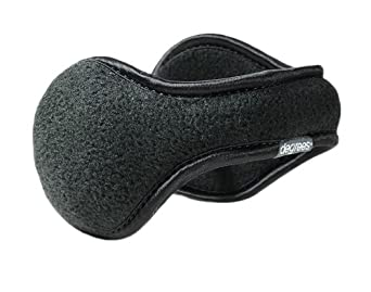 Degrees by 180'S Mens Black Fleece Ear Warmers,