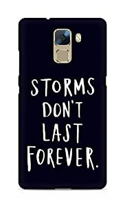 AMEZ storms dont last forever Back Cover For Huawei Honor 7