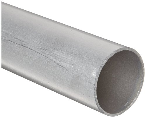 "Aluminum 6061-T6 Seamless Round Tubing, WW-T 700/6, 7/8"" OD, 0.745"" ID, 0.065"" Wall, 48"" Length"