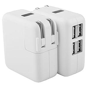 USB 充電器 4ポート折り畳式プラグ 110-240V