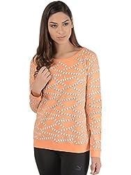 Bonhomie Women Sweatshirts [BONSW05_Peach_Extra Large]