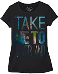 Disney Juniors Take Me To Neverland Peter Pan T-shirt Black