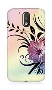 Amez designer printed 3d premium high quality back case cover for Motorola Moto G4 (Flowers drawings patterns wavy light)