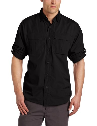 Blackhawk Men's Long Sleeve Lightweight Tactical Shirt (Black , Large)