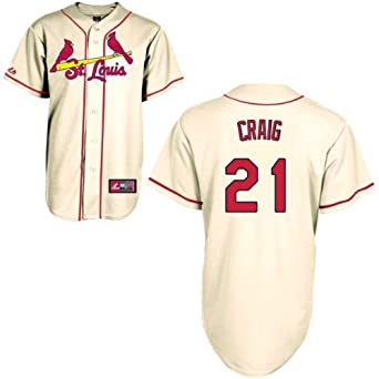 Allen Craig #21 Jersey: St Louis Cardinals Adult Alternate Ivory by Majestic