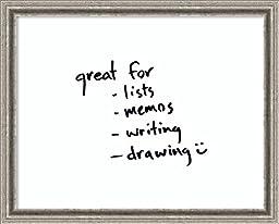 Framed Art Print \'Glass Message Board - Smooth White - Medium\'