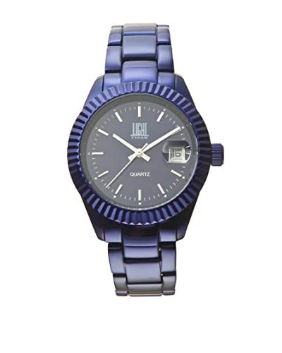 Light Time Orologio Alluminium Zigrinato Blu