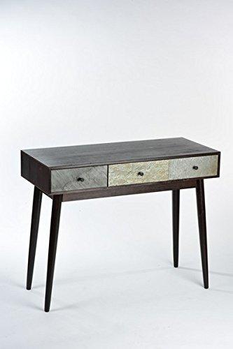 Scrittoio console legno 3 cassetti industrial moderno design